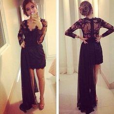 Charming Prom Dress,Long Sleeve Prom Dress,Chiffon Prom Dress,Evening