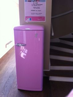 It's a pink fridge! And for charity! And it has bling on it! What's not to like? :D
