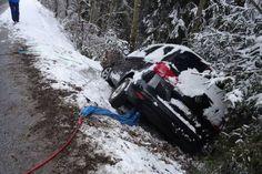 Ramsau: Auto im Schneematsch überschlagen