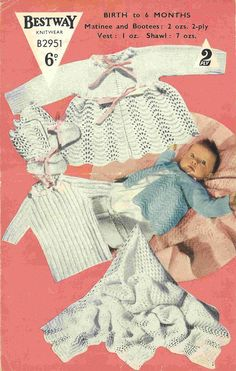 Bestway 2951 baby matinee coat and shawl layette  by Ellisadine, £1.00