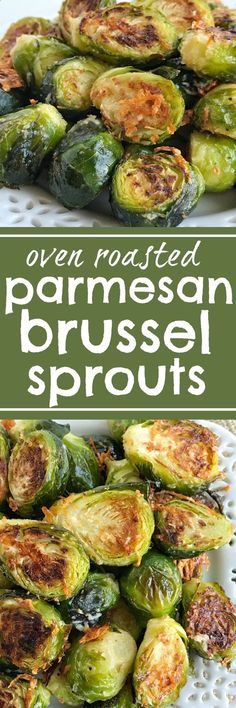 Oven roasted parmesan Brussel sprouts are a quick & easy 20 minute side dish that is healthy and delicious. Only a few simple ingredients to the best Brussel sprouts recipe that are bursting with flavor! www.togetherasfam...