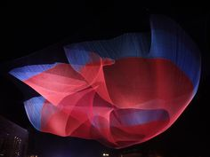 Janet Echelman builds living, breathing sculpture environments that respond to the forces of nature in the form of wind, water and light. Description from fashion156.com. I searched for this on bing.com/images