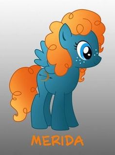 Merida [as My Little Pony] (Drawing by Brave Pixar, My Little Pony Drawing, Disney Pictures, Merida, Pegasus, Smurfs, Identity, Deviantart, Drawings