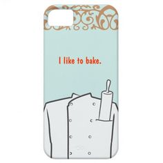 Pastry Chef iPhone 5 Cover Click on photo to purchase. Check out all current coupon offers and save! http://www.zazzle.com/coupons?rf=238785193994622463&tc=pin