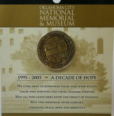 Oklahoma City National Memorial and Museum 1995-2005 Decade of Hope Coin