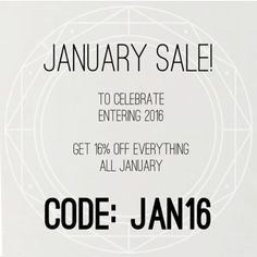 Happy New Year  Get 16% off EVERYTHING all January!  #amethyst #quartz #crystals #goth #nye #life #ring #newyearseve #newyear #jewellery #raw #womensfashion #fashion #style #natural #coupon #couponcommunity #christmas #giftideas #happynewyear #amazing #discount #flashsale #sale #voucher #girl #handmade #beautiful #picoftheday #code