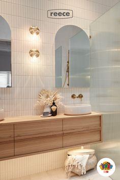 Gold Bathroom, Glass Bathroom, Bathroom Spa, Bathroom Renos, Bathroom Fixtures, Modern Bathroom, Small Bathroom, Master Bathroom, Feature Tiles
