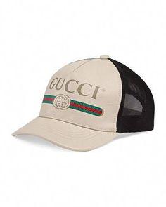 cfa771b4e7f Gucci Men s Vintage Logo-Print Baseball Cap  baseballcamps Baseball Cap  Outfit