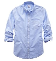 jcp blue button up shirt - stylist spring pick