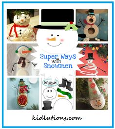 Super ways with snowmen! All can all be adjusted for play therapy!