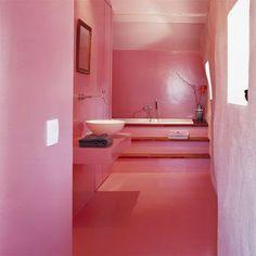 Banheiros e lavabos rosa