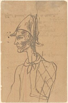 Study of a Harlequin Pablo Picasso (Spanish, Malaga 1881–1973 Mougins, France )