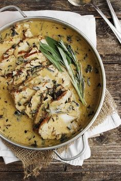 Pork Loin With Wine & Herb Gravy