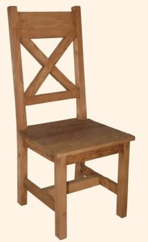 Reclaimed Wood Dining Chair Design #3 - Side Chair - 17 Standard Colors