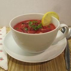 Céklakrémleves: az őszi szezon kedvelt étele - csütörtök  . Tea Cups, Tableware, Kitchen, Cooking, Dinnerware, Dishes, Home Kitchens, Kitchens, Place Settings