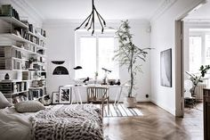 Scandinavian Home With A Double-Duty Bedroom