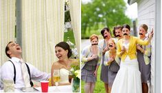 Molly and Nick's Fun Yellow Wedding in the Summer -