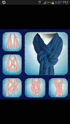 Looks best with light colored scarfs!