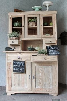 marzę, więc jestem Mobile Home Makeovers, Antique Interior, Decoration, China Cabinet, Sweet Home, Backyard, Storage, Shabby, Furniture