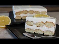 Πεντανόστιμο Γλυκό Ψυγείου με Σαβαγιάρ - Easy Lemon Dessert - YouTube