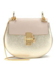 Chloé Drew metallic leather shoulder bag #chloe #chloedrew #bag #bags #valentinesday #valentinesdaygiftideas