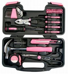 Could there be anything cooler than a PINK tool set?