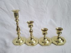 For Sale Now at Our Ebay Store for Only $39.99!  4 Baldwin Solid Brass HEAVY Candlestick Holders FORGED IN USA MINT Condition!