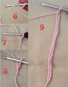 2 Sådan hækles der luftmasker og en luftmaske kæde