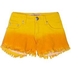 Reverse Smiley Shorts ($75) ❤ liked on Polyvore featuring shorts, ombre shorts, reverse shorts, cotton shorts, reversible shorts and mid rise shorts