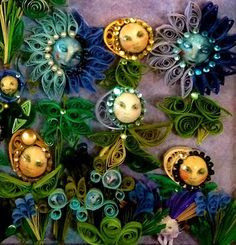 Moon Flowers Quilled by Linda Dickerson