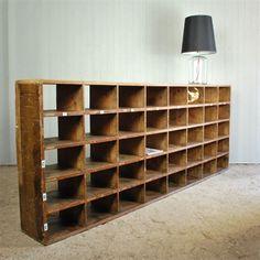 Huge Factory Pigeon Hole Unit - Vintage Industrial Furniture - Original House