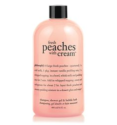 The only thing better than soaking in a bathtub that smells like peaches, is eating a peach while soaking ...