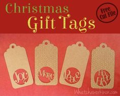 Quartet of Gift Tags - Whatcha Workin' On?