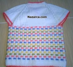 This Pin was discovered by Zah Baby Knitting Patterns, Knitting For Kids, Free Knitting, Diy Crafts Crochet, Baby Girl Sweaters, Baby Vest, Vest Pattern, Sweater Design, Filet Crochet