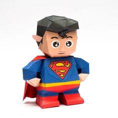 ภาพประกอบการสอนทำของเล่นกระดาษภาพที่ 1 - - Super cute chibi Superman -