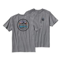 A durable organic cotton, regular-fit T-shirt that's made with U.S.-grown organic cotton and has a Patagonia original graphic that's screen-printed using PVC- and phthalate-free inks. Specifications: