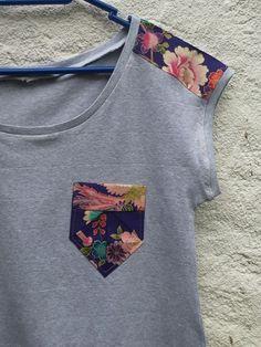 blusa com decote U, detalhe de recorte na manga e bolso tecido estampado floral blusa DIY your photo charms, 100% compatible with Pandora bracelets. Make your gifts special. PANDIELLEANDO: DIY: Bolsillo Origami