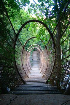 The Spider Bridge at the Sun City Resort, South Africa.