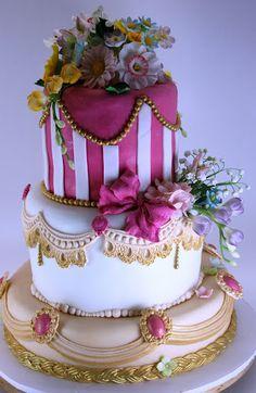 Viorica's cakes: Tort de nunta vintage