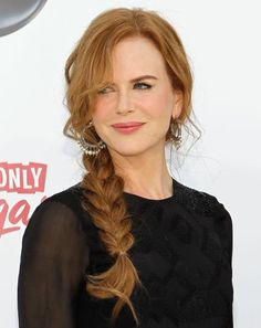 Nicole Kidman: Billboard Awards 2011 with Keith Urban!: Photo Nicole Kidman joins her husband Keith Urban on the white carpet at the 2011 Billboard Music Awards held at the MGM Grand Garden Arena on Sunday (May in Las Vegas,… Celebrity Wedding Hair, Celebrity Skin, Frizzy Wavy Hair, Braided Hairstyles For Wedding, Braid Hairstyles, Simple Hairstyles, Braided Updo, Hairstyles For Over 40, Hairstyle Ideas