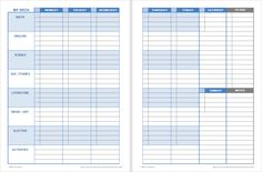 Printables Download a free printable weekly student planner template for Excel or PDF. Designed for printing two-sided and bound or placed in a 3-ring binder. Multiple designs to choose from.