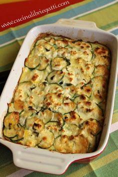 Cucina libri e gatti: Sformato di zucchine e patate con caprino e feta - Boureki