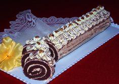 Kakaová roláda s karamelovým krémem Czech Recipes, Sweet Desserts, Waffles, Rolls, Breakfast, Food, Pineapple, Cake, Meal