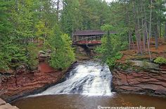 Covered bridge in Amnicon State Park, Wisconsin
