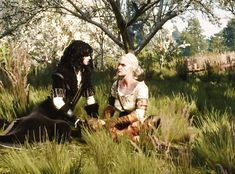 Yennefer and Ciri Witcher 3 Art, The Witcher Books, The Witcher Game, Witcher Wallpaper, The Last Wish, Vampire Masquerade, 4 Panel Life, The Witcher Geralt, Yennefer Of Vengerberg