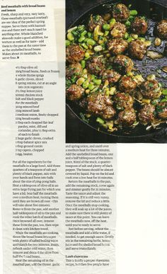 Beef meatballs with broad beans and lemon