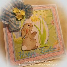 CottageBLOG: CottageCutz Spring Bunny w/Daffodil