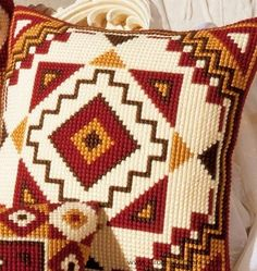 Geometric 12 Cushion Front Cross Stitch Kit by Vervaco