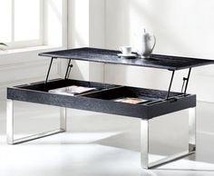 Coffee Table With Storage Lift Up Plans Black