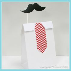 Mustache Bash Favor Bag .. no red